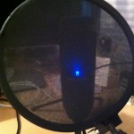 Picture of Nandy Pop Filter and AT 2020 microphone