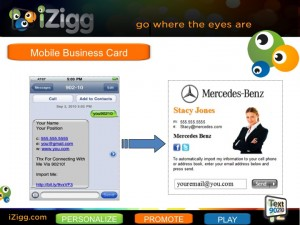 iZigg mobile M-Card for SMS Text marketing